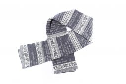 sciarpa frasi grigio-ecru