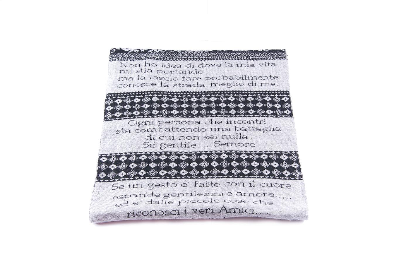 sciarpa frasi nero-grigio