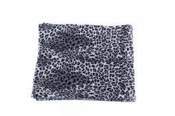 ssciarpa leopardo nero-grigio