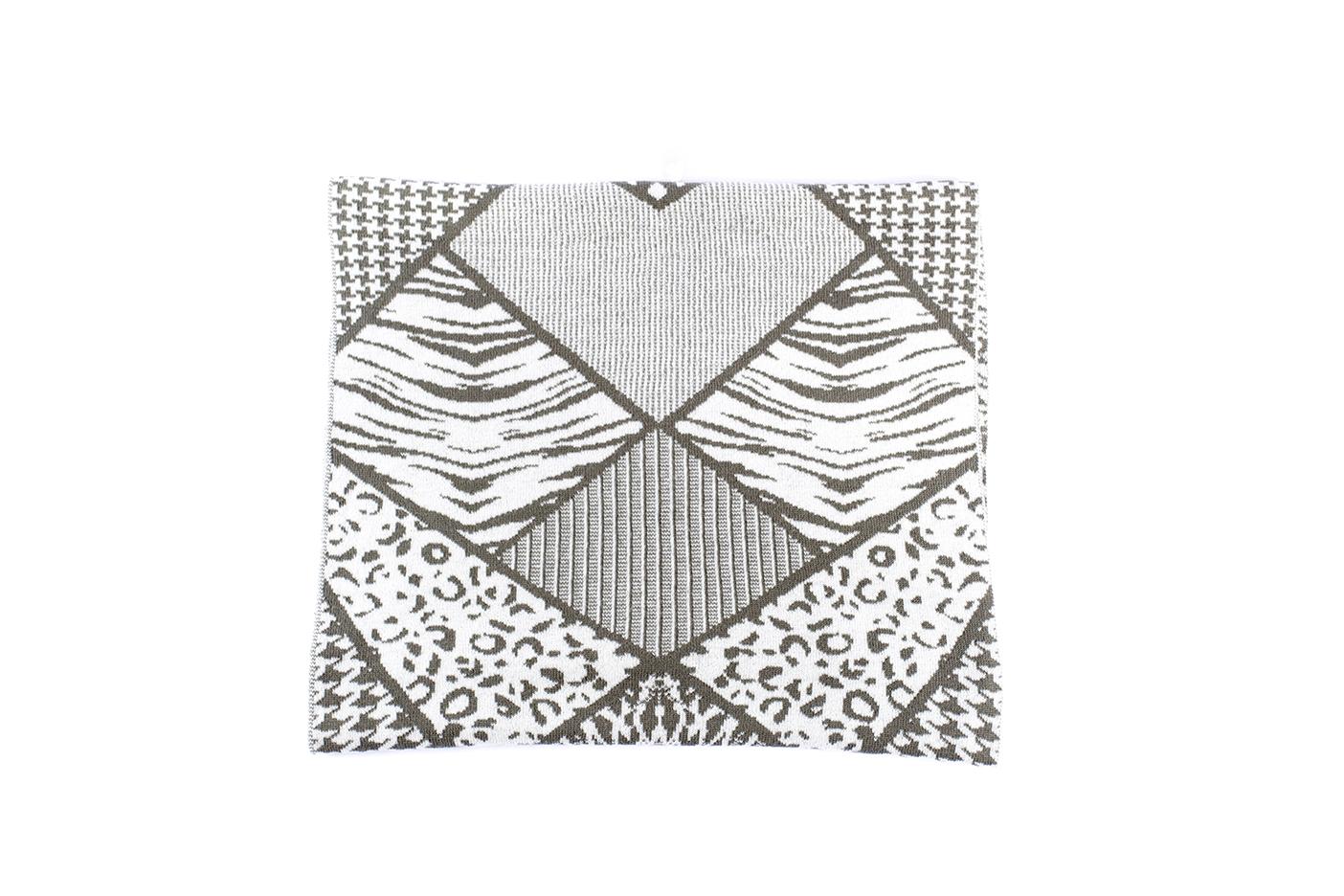 sciarpa patchwork salvia-ecru