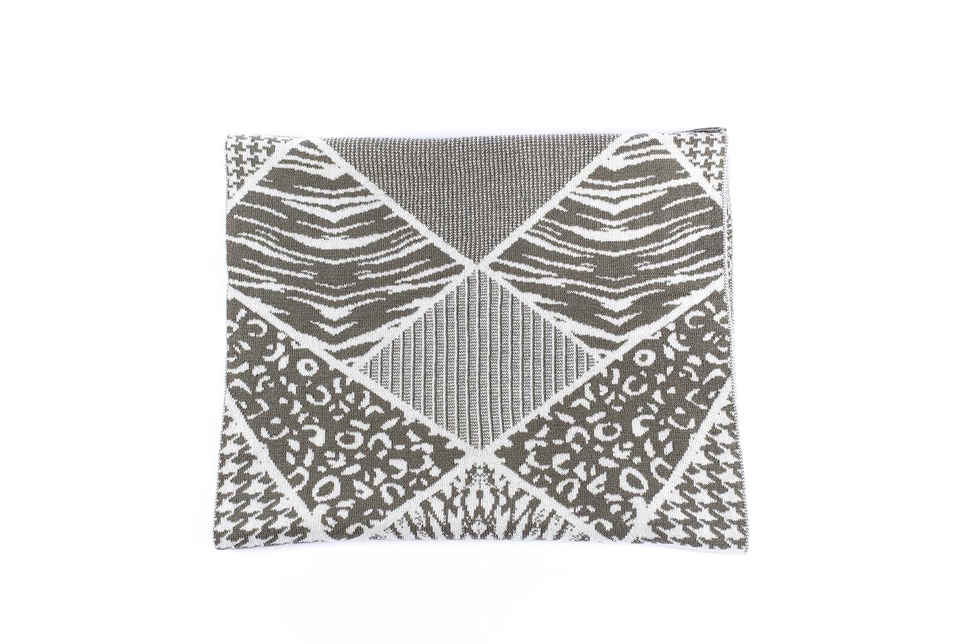 sciarpa patchwork salvia - ecru